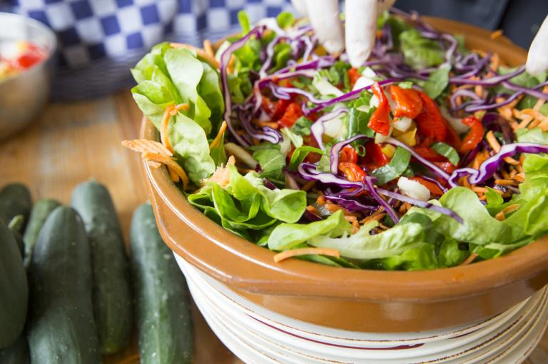 Colourful vegetable salad